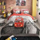 MODERN LONDON RED BUS DUVET COVER SETS IN SINGLE DOUBLE OR KING SIZE NEW BEDDING