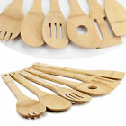 Huji Bamboo Wooden  Eco-friendly Kitchen Cooking Utensils Gadget Set of 6