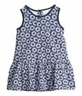 BABY GIRLS BLUE FLORAL PRINT COTTON FRILL DRESS IN 6-9 MONTHS BNWT