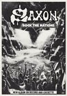 SAXON Rock The Nations PHOTO Print POSTER Band Sacrifice Wheels Of Steel Shirt 1