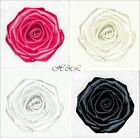 "Large Handmade 3"" ROSE Berisford Satin Bridal Dress Flower Applique DIY Sewing"