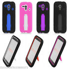 For Kyocera Hydro Edge C5125 C5215 Defender Impact Hybird Kickstand Case Cover