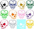 SKULL HEAD VINYL GRAPHIC DECAL/STICKER - CHOICE OF 5 COLORS