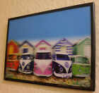 3D WALL ART GIFT IDEA New 3D style Painting with Frame - Scooter, City View,Dogs