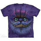 NEW BIG FACE CHESHIRE CAT Alice in Wonderland The Mountain T Shirt Adult Sizes