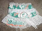 Miami Dolphins Football NFL Bridal Garter Set White lace Regular or Plus size