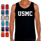 USMC Marines Tank Top PT US Military Bodybuilding Crossfit Exercise T Shirt