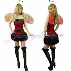 Ladybird Fancy Dress Costume Ladies Size 10 12 Womens Outfit Adult CLEARANCE