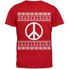 Peace Sign Ugly Christmas Sweater Red Youth T-Shirt