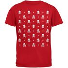 Skull And Crossbones Snowy Ugly Christmas Sweater Red Youth T-Shirt