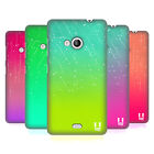 HEAD CASE DESIGNS NEON RAIN OMBRE HARD BACK CASE FOR MICROSOFT LUMIA 535