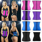 Latex Rubber Waist Trainer Cincher Underbust Corset Body Shaper Sport Shapewear