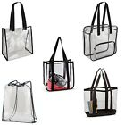 STADIUM, CONCERT, EVENT  CLEAR PVC, TOTE BAG, SHOULDER STRAP, MEETS REQUIREMENTS