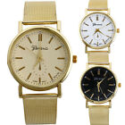 Fashion Womens Classic Gold Geneva Quartz Stainless Steel Wrist Watches Cheap