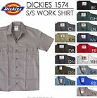 NWT Dickies 1574 Mens Work Shirts Short Sleeve Button Down All Sizes Solid Color