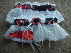 Chicago Bears Football NFL Bridal Garter Set White Lace Trim Regular Plus size