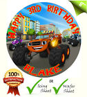 BLAZE AND THE MONSTER MACHINES Edible Round Birthday Cake Topper Icing Sheet