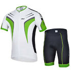 New Green Cycling Short Sleeves Clothing Bicycle Jersey+ (Bib) S