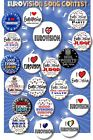 """LARGE EUROVISION SONG CONTEST PARTY BADGES~ 55 MM/ 2.2 """" SUPERB PARTY NOVELTY"""