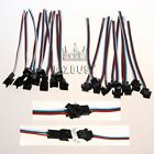 1-20Pair 3PIN JST Female&Male Connector Cable Wire For RGB LED Pixel Strip Light