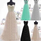 Sequin Long Formal Prom Dress Cocktail Party Ball Gown Evening Bridesmaid Dress
