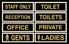 Toilets Signs / Stickers. Gents, Ladies, Private, Office, Staff Only, Reception