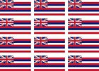 12 Hawaii state flags vinyl stickers football baseball hockey soccer helmet car