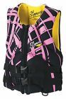 Slippery Electra Womens Life Vest/PFD Black/Pink/Yellow