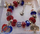 NBA L.A. LA LOS ANGELES CLIPPERS Crystal Charm Bracelet Los Angeles  NEW LOGO!