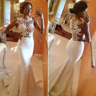 Womens Formal Evening Party Cocktail Long Lace Dresses Bridesmaid Ball Prom Gown