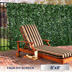 "72""(h) Artificial Faux Ivy Leaf Privacy Fence Screen Décor Panels Outdoor Hedge"