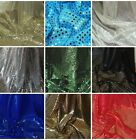 "1M SEQUIN SHINY SPARKLY DRESS  FABRIC 45""WIDE"