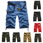 A US Mens Short Pants Shorts Casual Army Cargo Combat Camo Camouflage / Solid