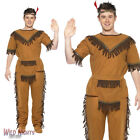 """FANCY DRESS COSTUME # MENS WILD WEST INDIAN BRAVE CHIEF COSTUME 38""""-44"""""""