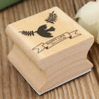 Cute 6 Pattern Wooden Wood Rubber Stamp Stamper Seal Craft Diary Free Choice