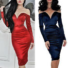 Red/Navy Blue 50s 60s Sexy Off-shoulder Bandage Party Evening prom PARTY Dresses