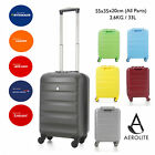 "CLEARANCE Aerolite 21"" 55cm 4 Wheel Spinner Hard shell Cabin Hand Luggage Deals"