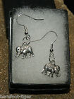 Elephant Silver Plate Earrings (Pair) Gift Boxed