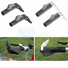Pair Ergonomic Rubber Grip Lock-On Ends Handlebar For MTB Mountain Bike Bicycle