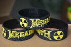 "MEGADETH Silicone 1"" Wide Filled in Colour Debossed Wristband Bracelet"
