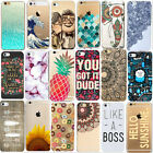 Various Fashion Pattern Skin Hard Back Case Cover For iPhone 5/5S 5C 6/6 Plus