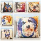 Colorful Dogs Animal Home Decor Throw Cushion Cover Pillow Case Square 45cm