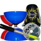 Big Top JUMBO Ball Bearing Diabolo Set + Metal Diablo Sticks, String, DVD & Bag