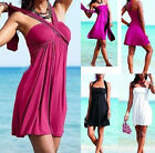FD2106 Women Padded Monokini Swimsuit Swimwear Swimdress Tankini Dress 1Set/3PCs