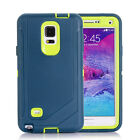 Defender Case & Belt Clip Holster For Samsung Galaxy Note 4 Screen Protector
