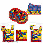 Spiderman Superhero Boys Birthday Party Tableware Plates Cups Napkins Tablecover