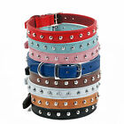"""REAL LEATHER STUDDED DOG COLLAR 18"""" - 20"""" NECK 1"""" WIDE"""