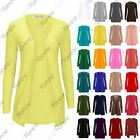 Womens Long Sleeves Drop Pocket Boyfriend Cardigan Ladies Open Casual Tops 14-20