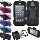 Hybrid Heavy Duty Layers Impact Hard Case Cover Stand for iPod Touch 5 5th Gen