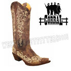 Corral Ladies Embroidery Floral Lace Cowgirl Boots Bone A1094 Wedding Boots